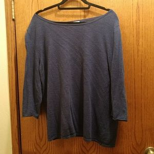 J Jill Blue textured long sleeve sweater